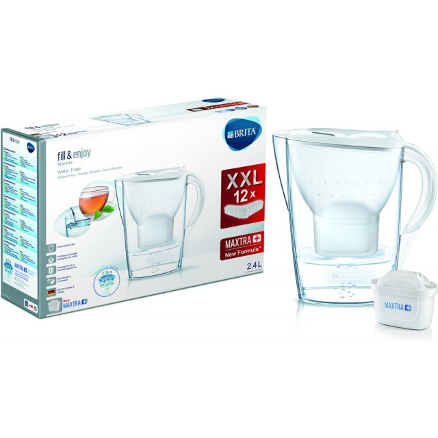 Brita Waterfilterkan Marella Cool 2.4L + Brita Maxtra+ Waterfilters 12-Pack