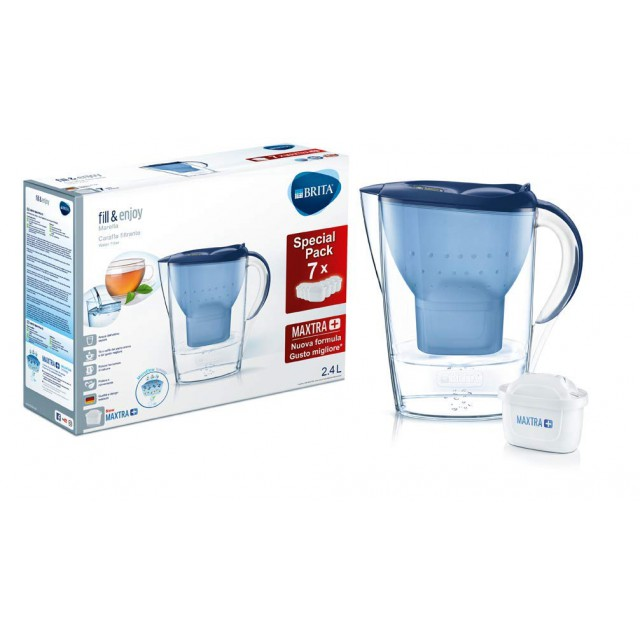 Brita Waterfilterkan Marella Cool 2.4L + Brita Maxtra+ Waterfilters 7-Pack